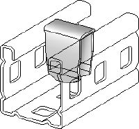 MC-PI OC-A Hot-dip galvanized (HDG) channel stiffening insert for use where threaded components/bolts are fitted through the sides of MC-3D installation channel outdoors