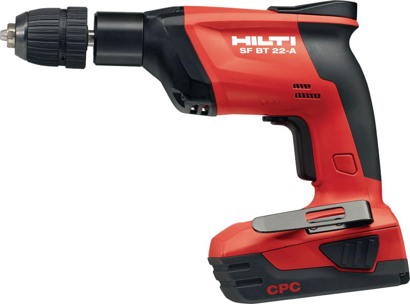 SF BT Cordless drill for predrilling accurate holes for X-BT fasteners