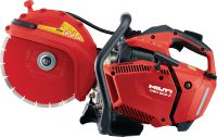 DSH 600-X Gas cut-off saw Compact and light top-handle 63 cc petrol saw with blade brake – cutting depth up to 120 mm with 300 mm blades