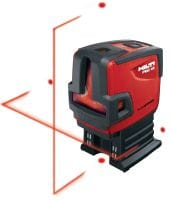 PMC 46 Combi-laser with 2 lines and 4 points for plumbing, leveling, aligning and squaring with red beam