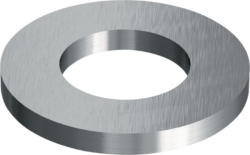 Stainless steel (A4) flat washer corresponding to ISO 7089 used in various applications