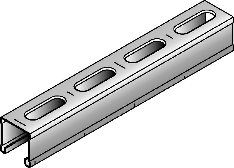 MM-C-30 Galvanized 30 mm high MM strut channel for light-duty applications