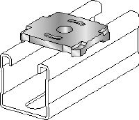 MQZ-L Galvanised bored plate for fire-tested trapeze assembly and anchoring