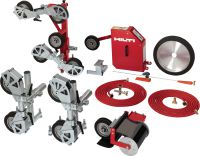 DS WSS30 Wire saw kit for our high-power hydraulic DS TS32/LP32 wall saw