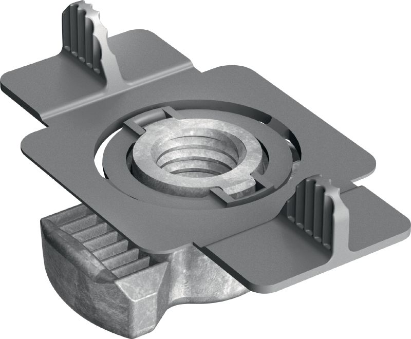 MQM-F Hot-dip galvanized (HDG) wing nut for connecting modular support system components