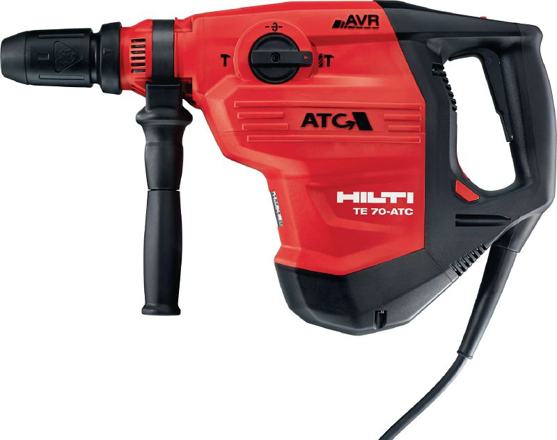 TE 70-ATC/AVR Very powerful SDS Max (TE-Y) rotary hammer for heavy-duty concrete drilling and chiseling, with Active Torque Control (ATC) and Active Vibration Reduction (AVR)