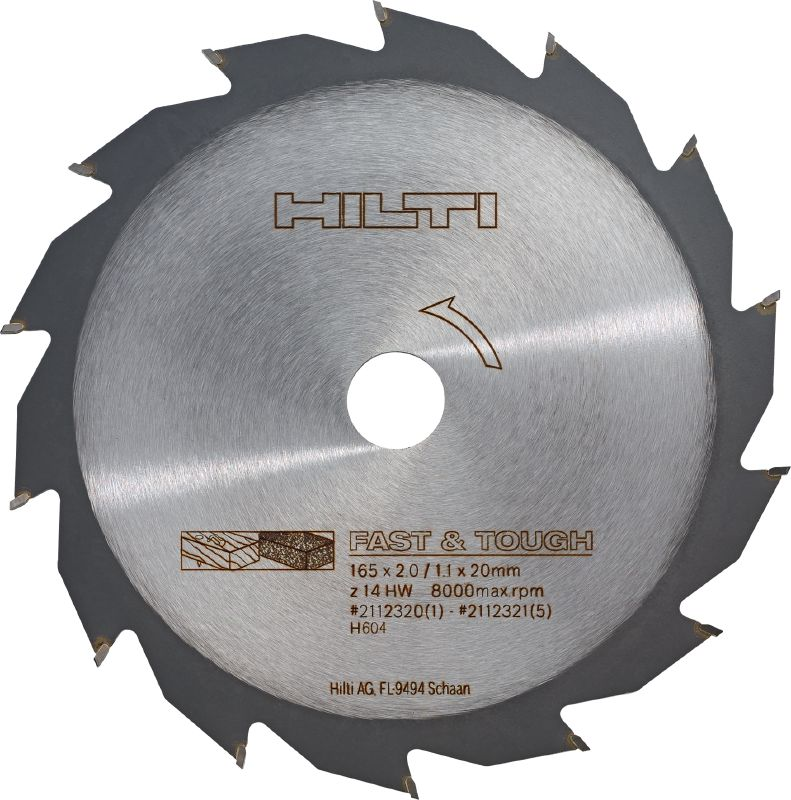 Wood construction cutting Basic circular saw blade for fast cutting in construction wood and timber
